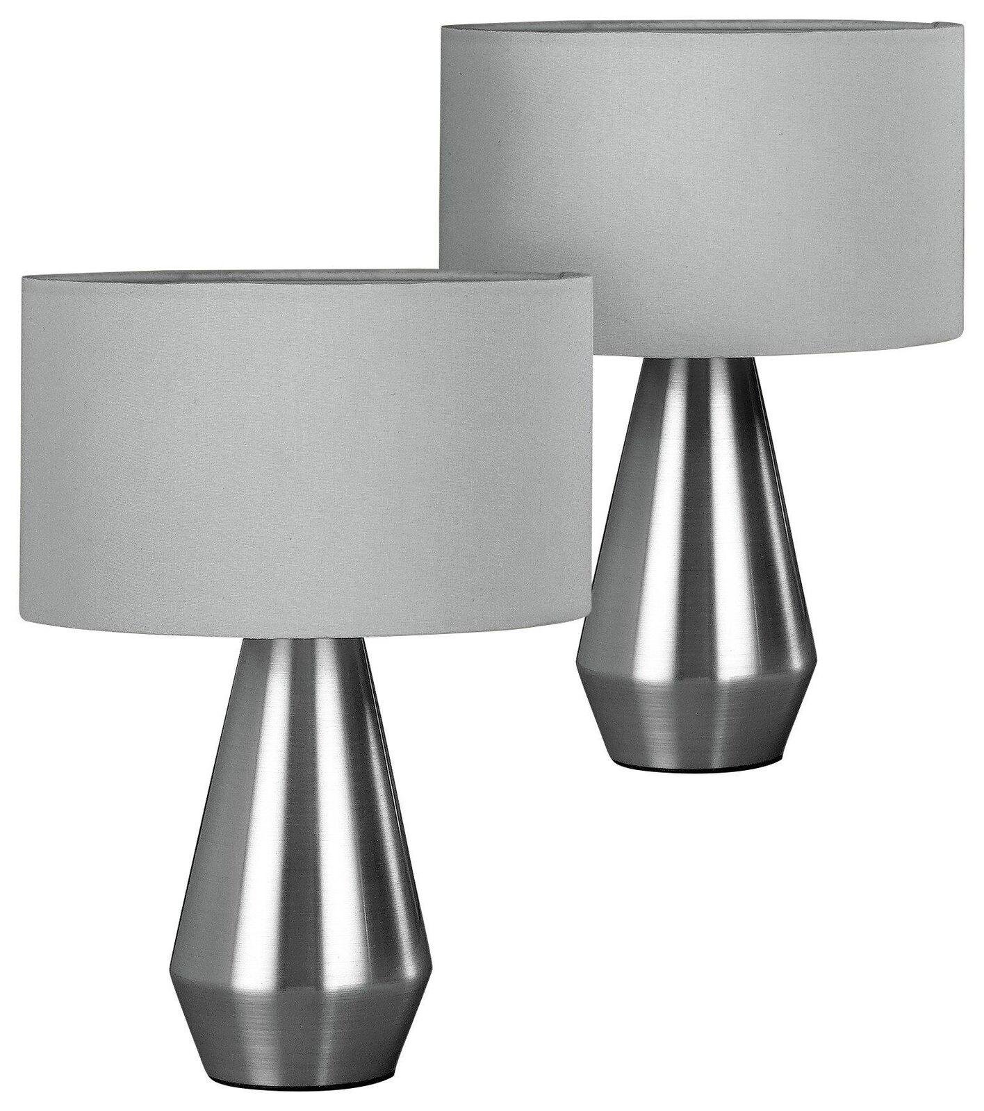 2 X Nuova Lampada da tavolo Touch Premium Arredonnato Moderno da comodino scrivania dimmer LED Lounge