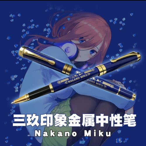 Anime Go Toubun no Hanayome Nakano Miku Ballpoint Metal pen Gift Rollerball Gift