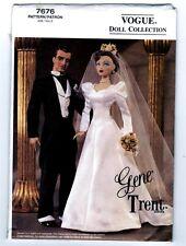 "Vogue 7676 Doll 15 1/2"" Gene & Trent Ashton Drake Bride & Groom Pattern Uncut"