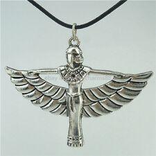 "Egyptian Pharaonic Winged ISIS Pendant 16"" Collar Short Choker Necklace"