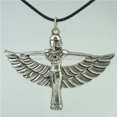 Egyptian-Pharaonic-Winged-ISIS-Pendant-16-Collar-Short-Choker-Necklace