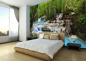 Camera Da Letto Rock : Waterfall nature rock tree forest photo wallpaper wall mural home