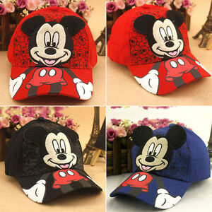 03e58f4e Kids Boys Girl Mickey Mouse Baseball Cap Snapback Adjustable Child ...