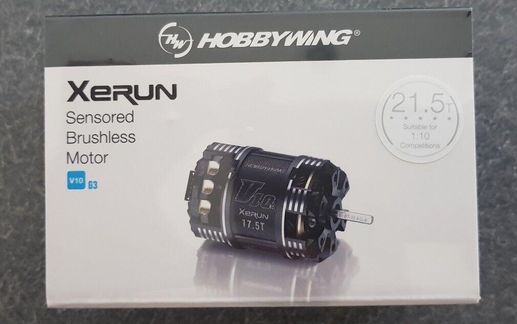 HOBBYWING XERUN SENSorojo V10 G3 sin escobillas motor de carreras de stock 21.5T