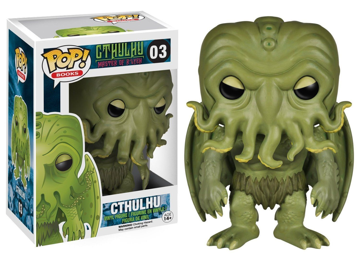 FIGURE CTHULHU MASTER OF R ' LYEH 9 CM POP FUNKO LOVECRAFT FANTASY THE ELDER GOD