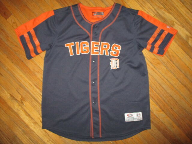 reputable site 637bd c7d0c DETROIT TIGERS JERSEY Baseball Sewn Stitched Embroidered True Fan YOUTH LG  10-12
