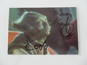Frank Oz (Autogrammkarte) Star Wars / Yoda