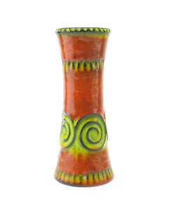 Jasba-Space-Age-Keramik-Relief-Vase-Modell-N-322-11-24-rot-gelb-wgp-60-70er