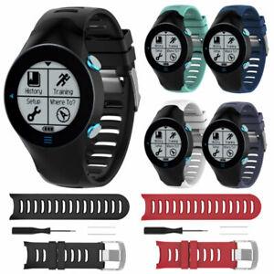 Silikon-Armband-Uhrenarmband-Uhr-Straps-Fuer-Garmin-Forerunner-610-Ersatzband-MV
