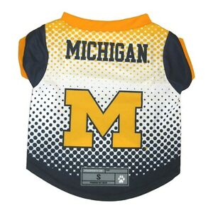 Michigan-Wolverines-NCAA-Licensed-Dog-Pet-Performance-Tee-Sizes-XS-XL