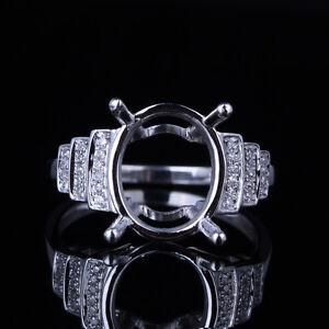sterling silver 925 real diamonds semi mount setting