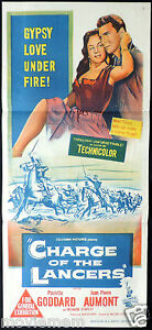 CHARGE-OF-THE-LANCERS-Paulette-Goddard-WILLIAM-CASTLE-daybill-Movie-poster