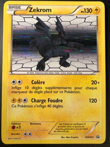 Carte Pokemon ZEKROM BW005 PROMO Holo Noir et Blanc N/&B FR NEUF