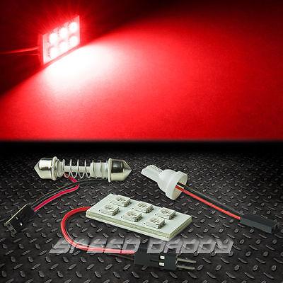 T10 6 SMD 6SMD 5050 CAR/TRUCK RED LED INTERIOR DOME/MAP 12V LIGHT BULB/PANEL