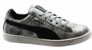 Details zu Puma Basket Classic Camo Mens Trainers Grey Camouflage Lace Up 357368 01 D43
