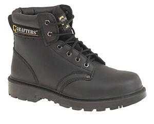 acciaio punta Inserti con in Stivali di da da pizzo lavoro nero sicurezza uomo in YqxOaYf