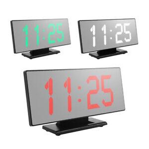 LED-Grand-ecran-reveil-Numerique-Montre-electronique-muet-horloge-lumineuse