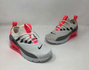 Details about Women's Nike Air Max 90 EZ Size 5.5 US White/Solar Red/Black (AO1520-101)