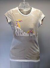 KITSON LA Anthropologie S/S Knit Burn Out  KITSON LOGO T Shirt Top XS