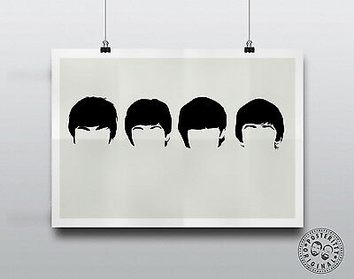 Beatles Minimalist Band Poster Silhouette Music Heads Minimal Bowl Lennon