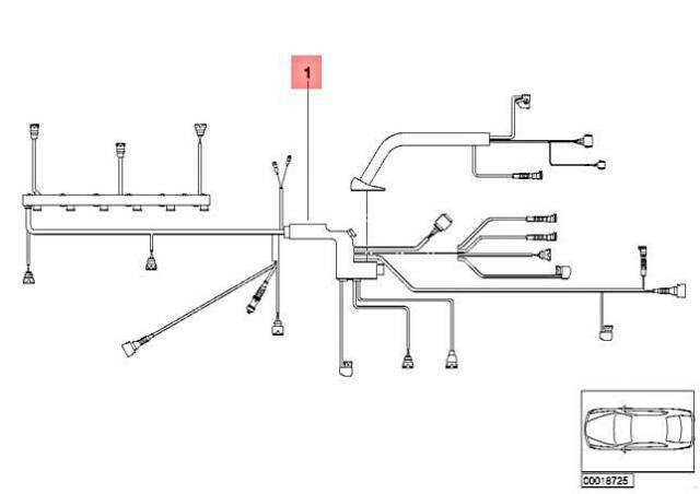 OEM BMW E60 525i 530i 04-05 Main Engine Wiring Harness Loom 12517529696 for  sale online | eBay