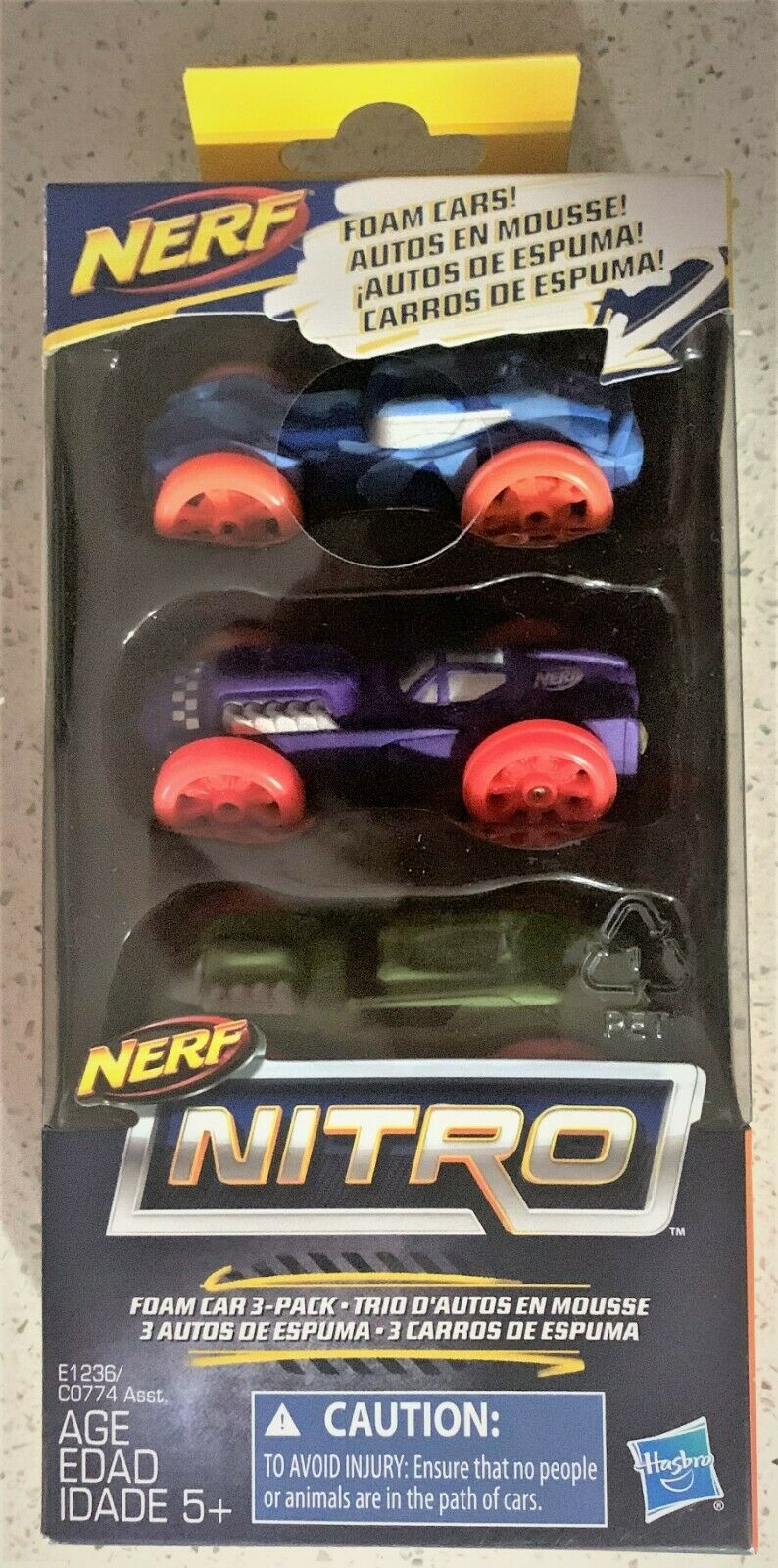 Nerf Nitro Foam Car 3-Pack Version 7 Hasbro E1235