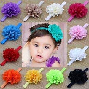 10pcs kids girl baby toddler flower headband hair band