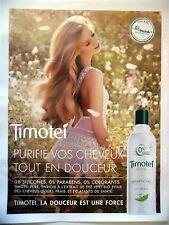 PUBLICITE-ADVERTISING :  TIMOTEI Pure  2016 Cosmétique Shampoing