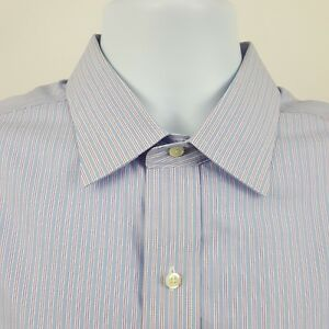 Brooks-Brothers-346-Non-Iron-Blue-Striped-Mens-L-S-Dress-Button-Shirt-16-1-2-2-3