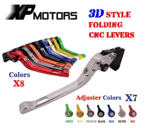 3D Folding Brake Clutch Levers for Suzuki DL650 V-Strom SV650//S 600//750 Katana