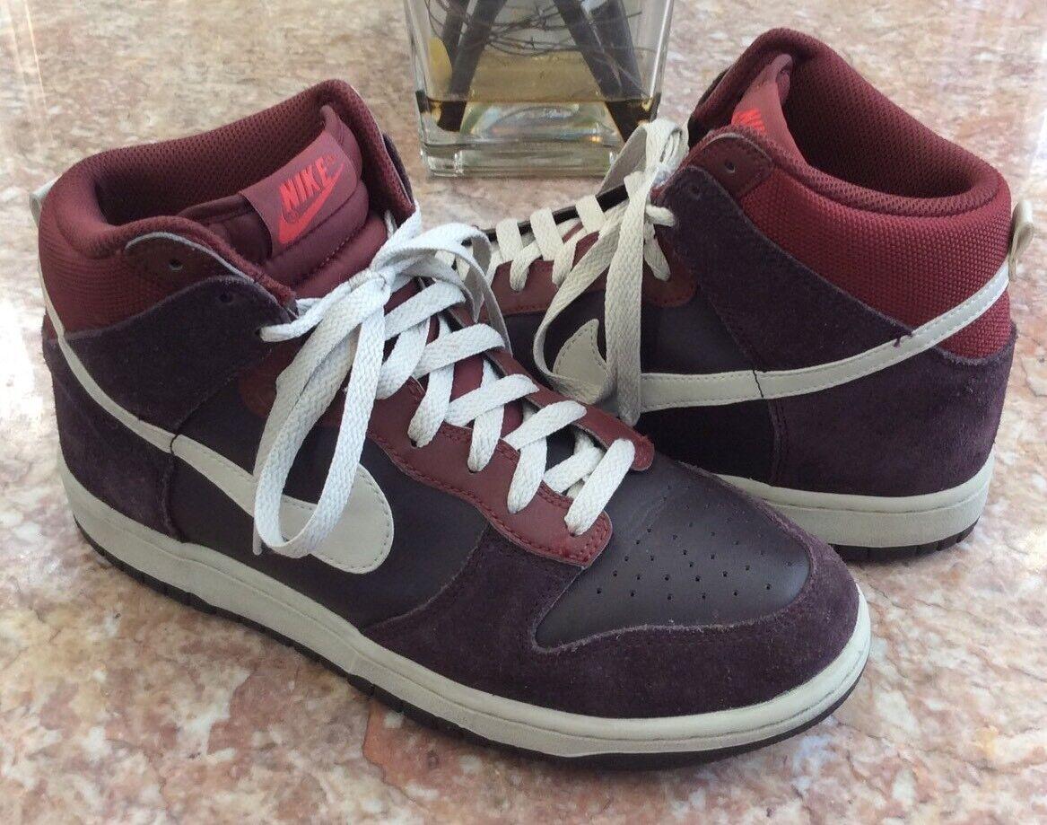 NIKE Dunk High Men's Port Wine Purple Basketball Shoes Comfortable