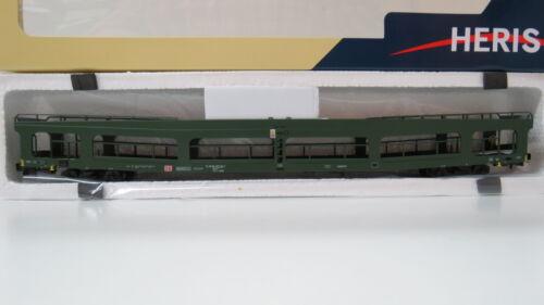 Autotransporter DDm 916 der DB,grün,Epoche V,HERIS HO,11077,NEUWARE,LuP 303mm