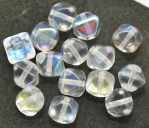 15 Séquoia Perles Bicone 8x7 mm cristal avec AB Y2-04