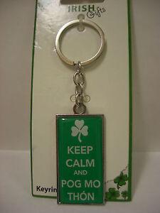 IRELAND-KEYRING-KEYCHAIN-KEEP-CALM-AND-POG-MO-THON