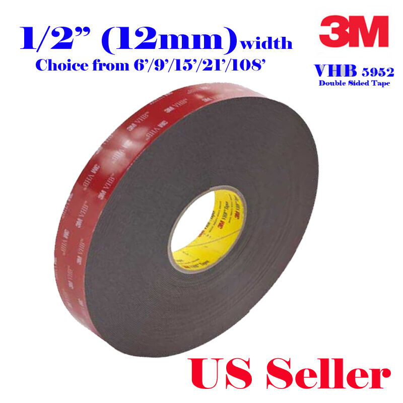 3m 1 2 Quot X 9 15 21 108 Vhb Double Sided Foam Adhesive Tape