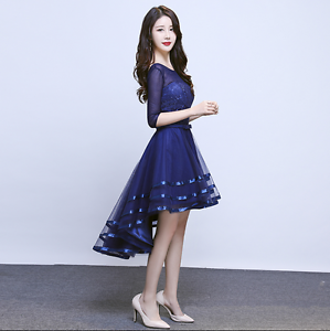 Image Is Loading Womens Tail Dress Party Lace Slim Bow Korean