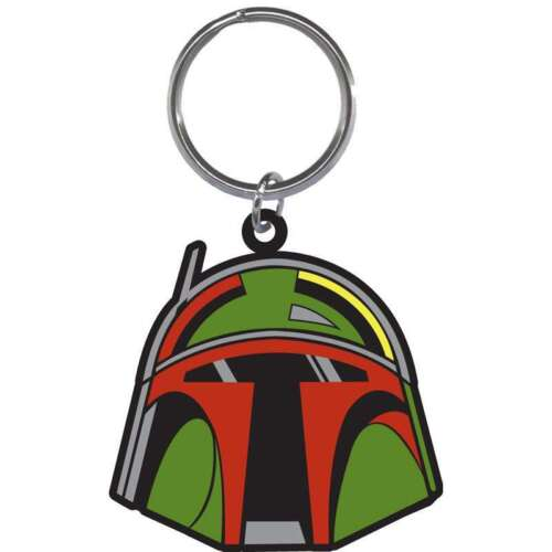 Disney Star Wars Boba Fett Helmet Laser Keychain