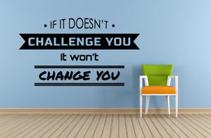 Change You Workout Motivation Quotes Vinyl Art Sticker Home Room Gym Wall Decals