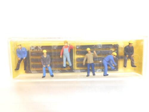 MES-52136 Preiser 34 1:90 Bauarbeiter sehr guter Zustand,mit Originalverpackung,