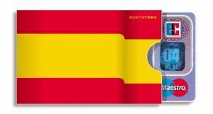 cardbox SPANIEN Fahne Flagge Espana Madrid Länderfahne Urlaub Mallorca spanisch