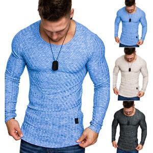 AU-Seller-Men-039-s-Slim-Fit-Long-Sleeve-Casual-T-Shirt-Autumn-Shirt-Tops-Muscle-Tee