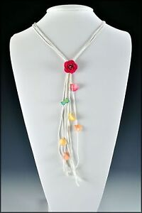 Real-Mini-Fuchsia-Rose-Flower-with-Petals-Necklace-On-White-Cord-in-Gift-Box