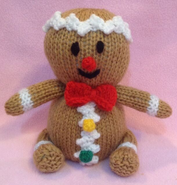 Knitting Pattern Christmas Gingerbread Man Orange Cover Or 15 Cms