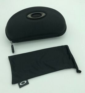 34f9a5cbba97 NEW Black Oakley Zipper Sunglass Case w  Soft Drawstring Case