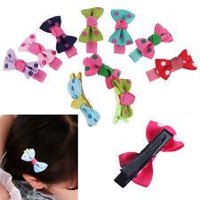 10PC Girls Baby Kids Children Hair Accessories Bows Snaps Alligator Clips Slides