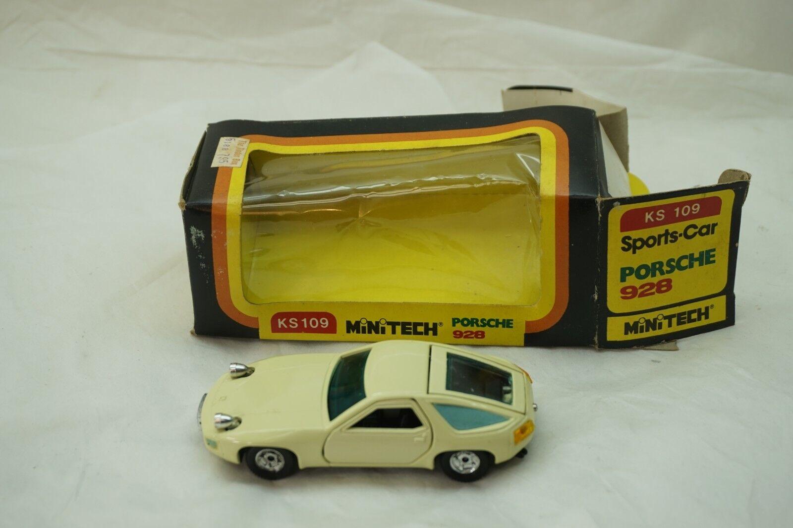 Vintage Voiture Miniature Minitech Mini Tech Porsche 928 KS109 1 43 Echelle