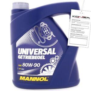 4 Liter MANNOL Universal Getriebeöl 80W-90 API GL 4 80W90 Getriebe Öl