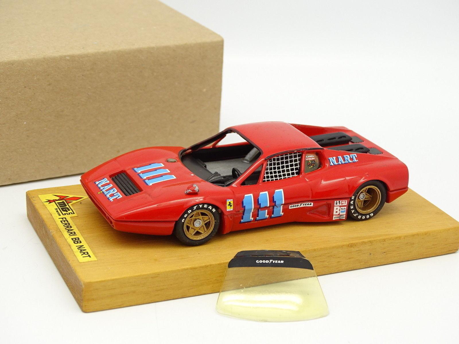 MG Models Kit monté Métal 1 43 - Ferrari 512 BB NART N°111 Sebring 1975