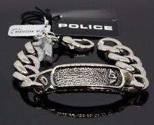 POLICE Armband Kettenarmband Panzerkette Silber RAVEN Edelstahl PJ23834BSS 20cm