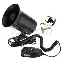 Auto Motorcycle 12V Loud Siren Horn Alarm 6 Sounds Tone System Speaker & MIC